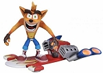 NEW NECA CRASH BANDICOOT DELUXE FIG W/HOVERBOARD